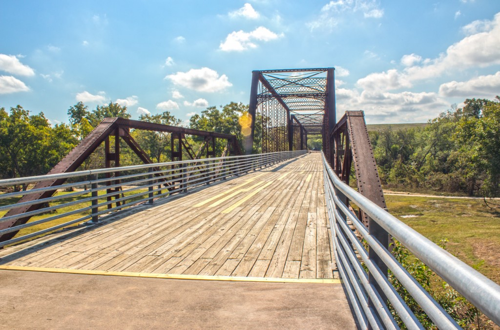The bridge used to separate Miracle National Park from the outer world is actually just south of Austin's Bergstrom Airport.